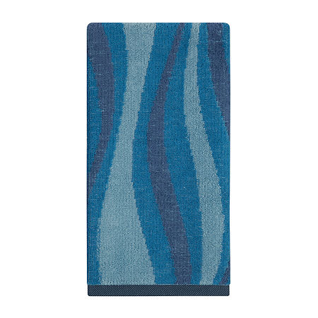 Creative Bath Wavelength Bath Towel Collection, One Size , Blue
