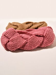 2pcs Braided Knit Headband