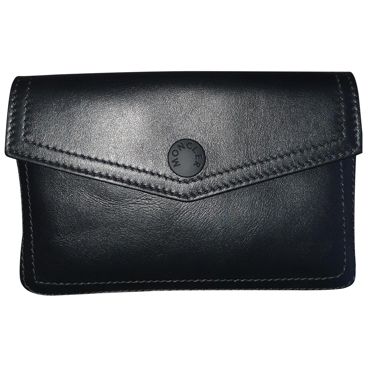 Moncler \N Black Small bag, wallet & cases for Men \N