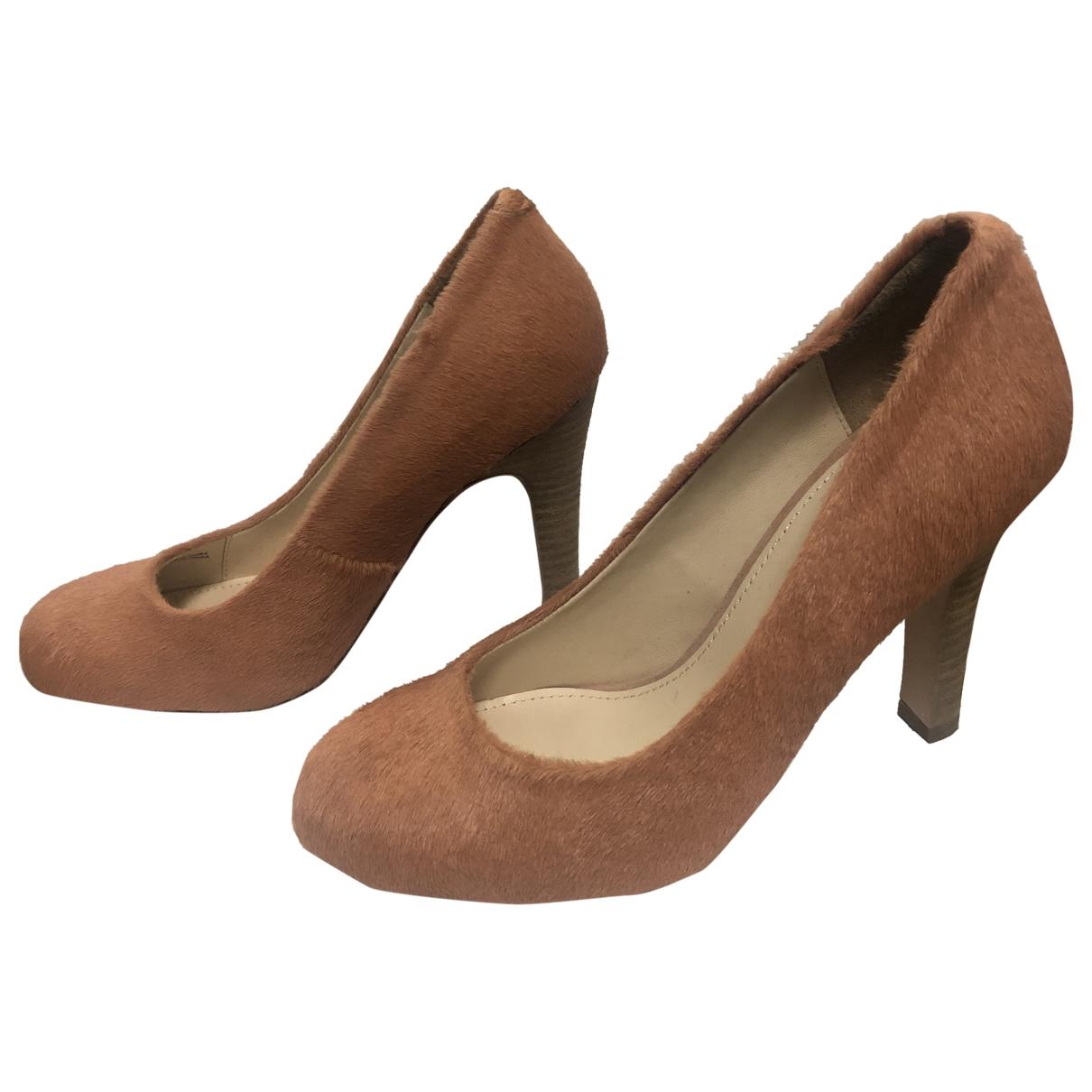 Bimba Y Lola \N Orange Pony-style calfskin Heels for Women 36 EU
