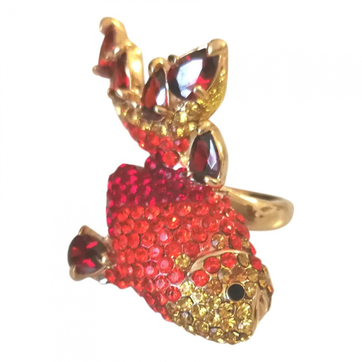 Non Signé / Unsigned Motifs Animaliers Gold Metal ring for Women \N