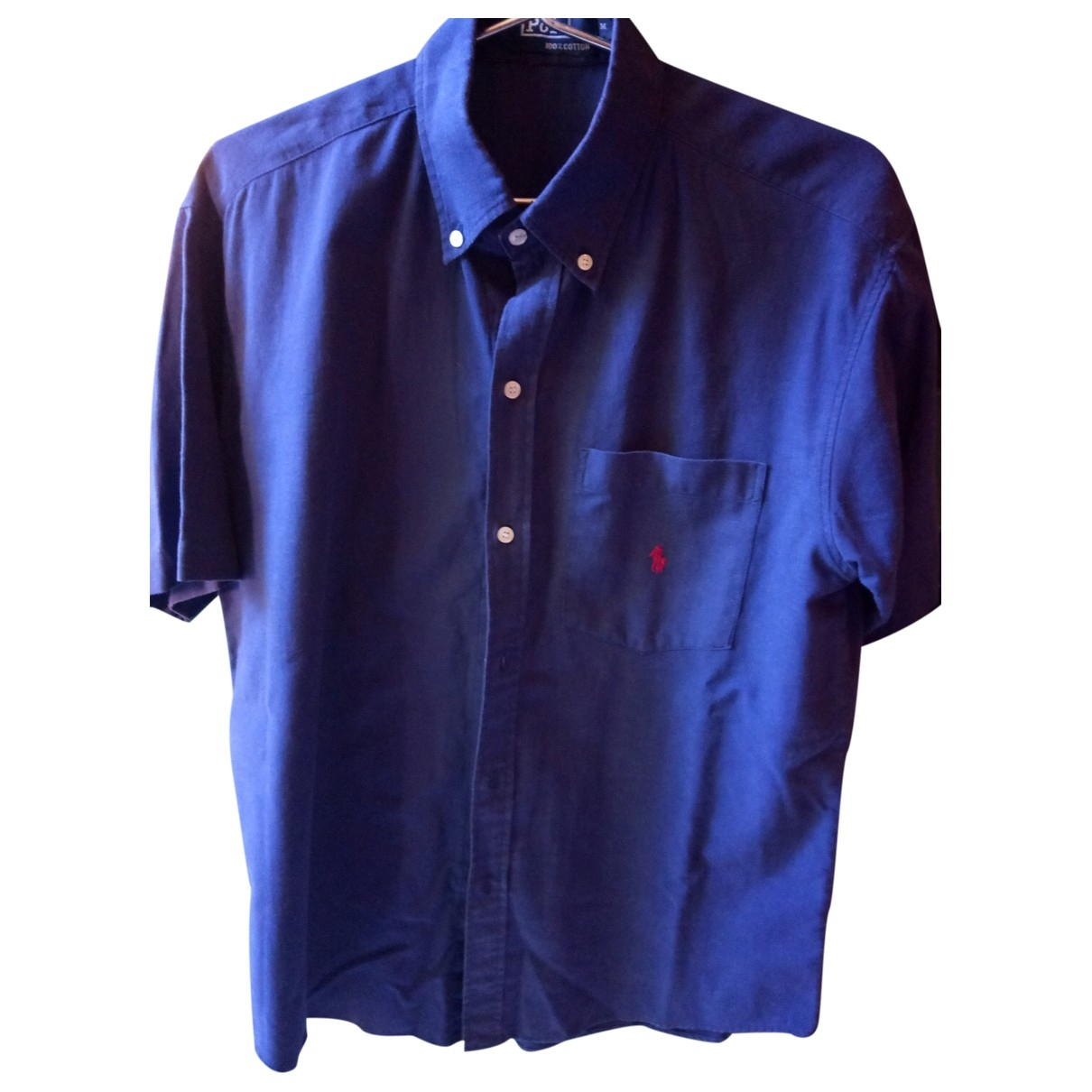 Polo Ralph Lauren Polo ajusté manches courtes Blue Cotton Shirts for Men M International
