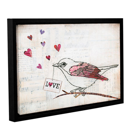 Brushstone Love Birds II Love Gallery Wrapped Floater-Framed Canvas Wall Art, One Size , Gray