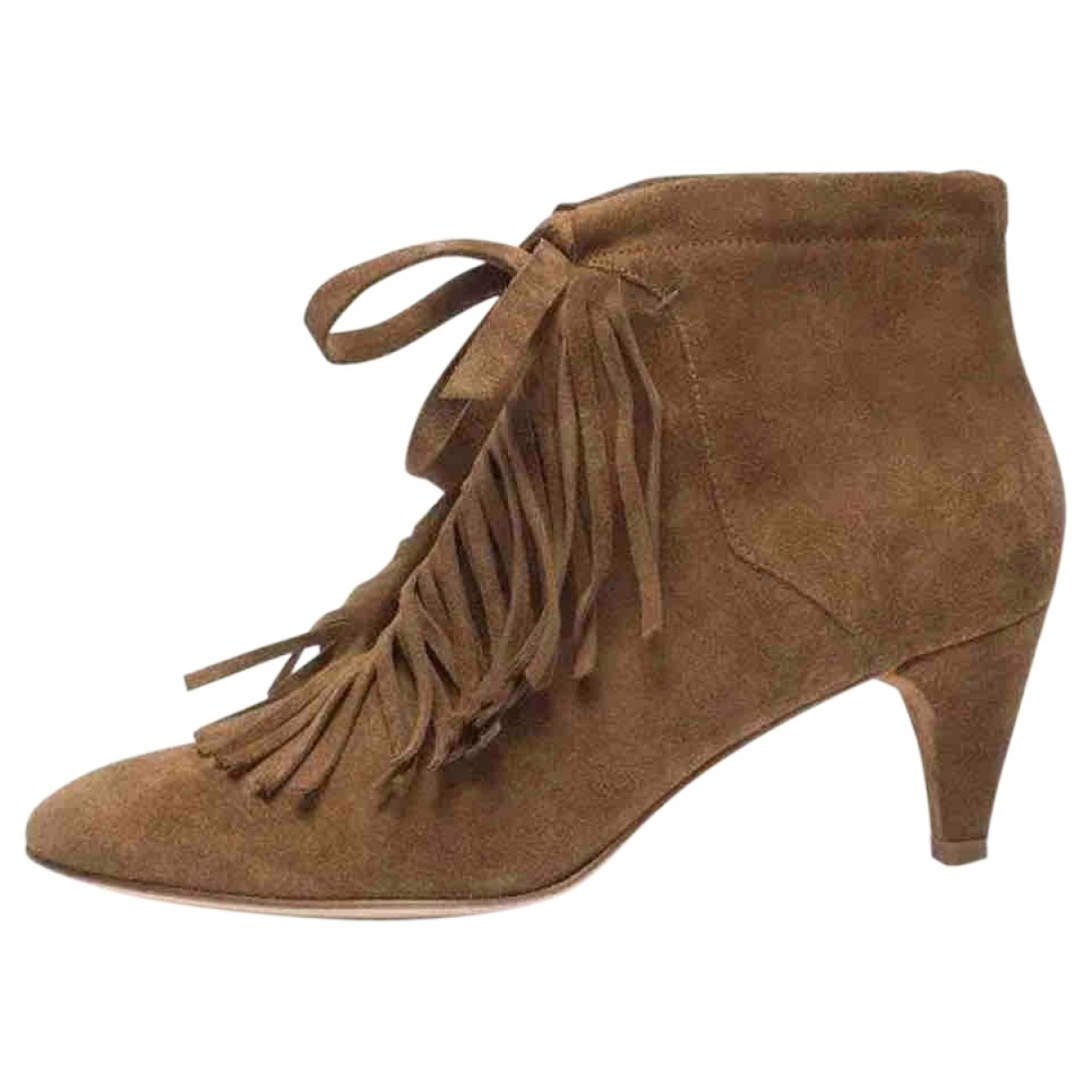 Maje \N Camel Suede Ankle boots for Women 37 EU