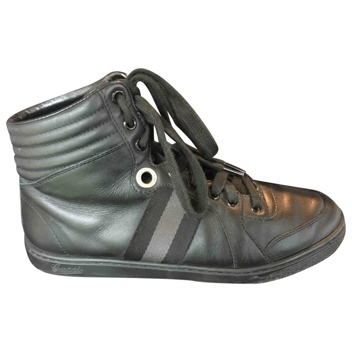 Gucci \N Black Leather Trainers for Women 38 EU