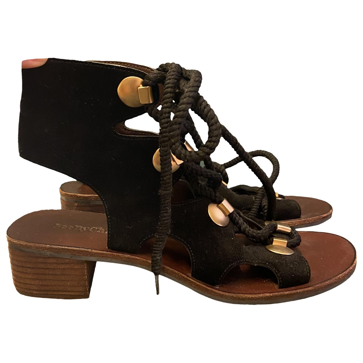 See By Chloé \N Black Leather Sandals for Women 37 EU