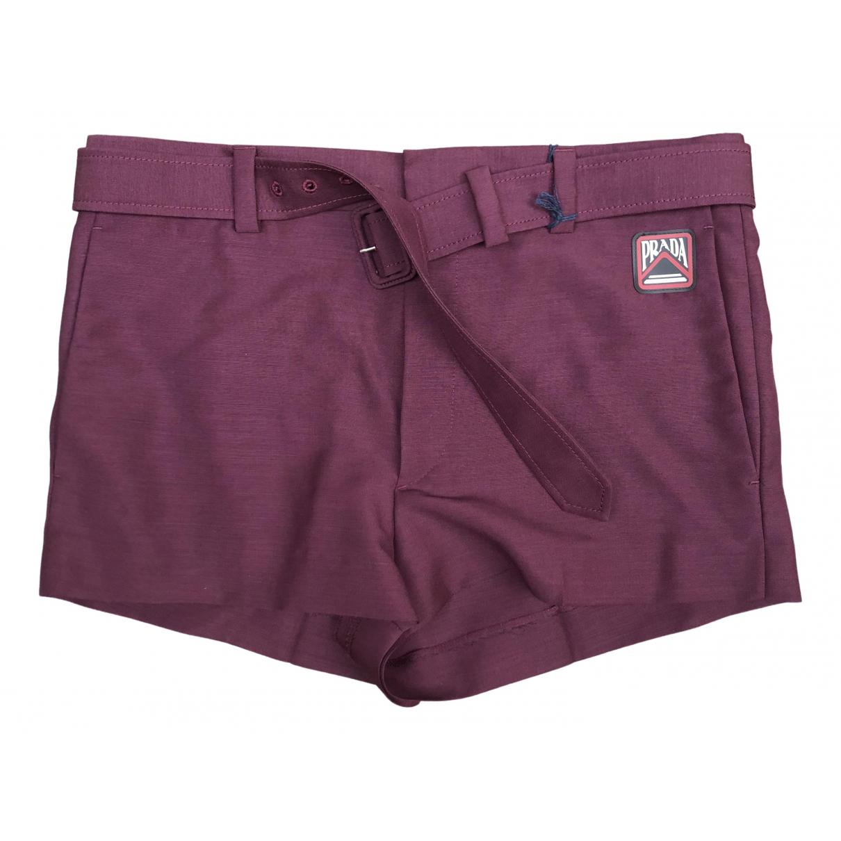 Prada \N Burgundy Shorts for Men 48 IT