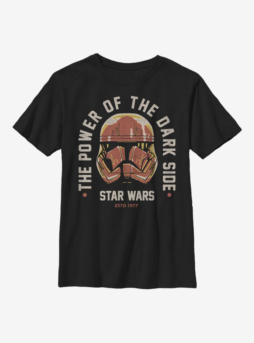 Star Wars Episode IX The Rise Of Skywalker Dark Side Power Youth T-Shirt