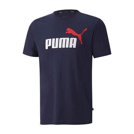 Puma-Big and Tall Mens Crew Neck Short Sleeve T-Shirt, X-large Tall , Blue