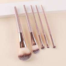5pcs Glitter Handle Makeup Brush Set