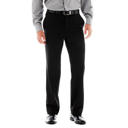 Men's JF J. Ferrar Stretch Gabardine Flat-Front Straight-Leg Super Slim Suit Pants, 30 34, Black