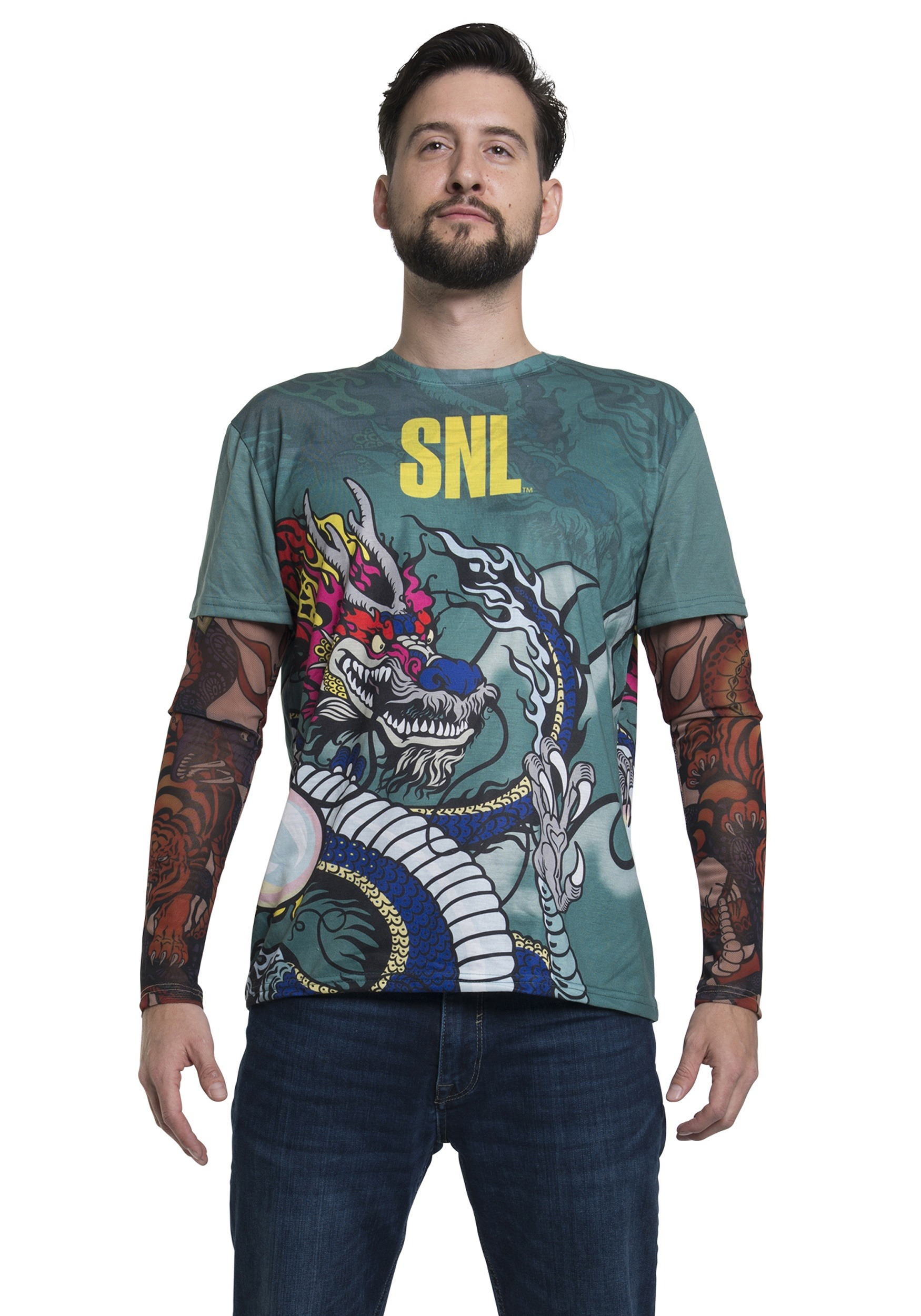 Stefon Tattoo Long Sleeve SNL Costume Tee