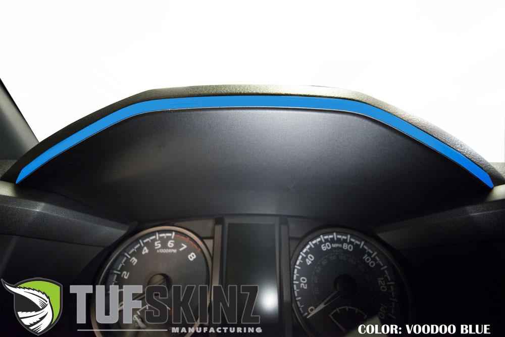Tufskinz TAC018-VODB-G Dashboard Accent Trim Fits 16-up Toyota Tacoma 1 Piece Kit Voodoo Blue