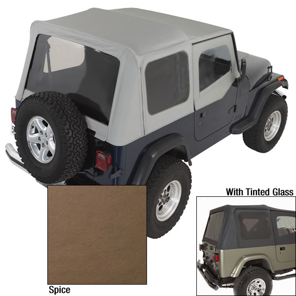 Rugged Ridge 13702.37 Soft Top, Door Skins, Spice, Tinted Windows; 88-95 Jeep Wrangler YJ Jeep Wrangler 1988-1995