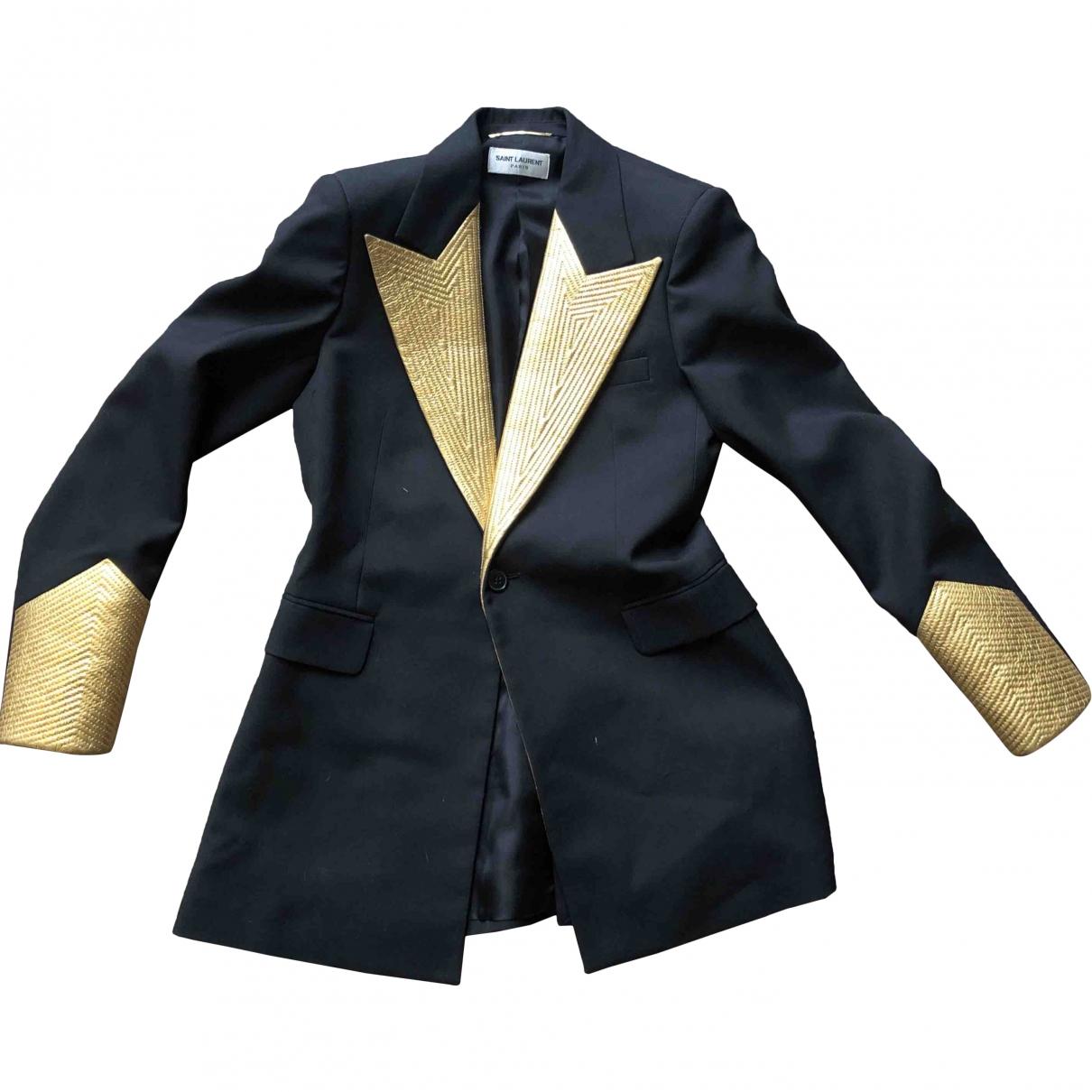 Saint Laurent \N Black Wool jacket for Women 36 FR