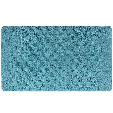 Melange Bath Rug Collection, One Size , Blue