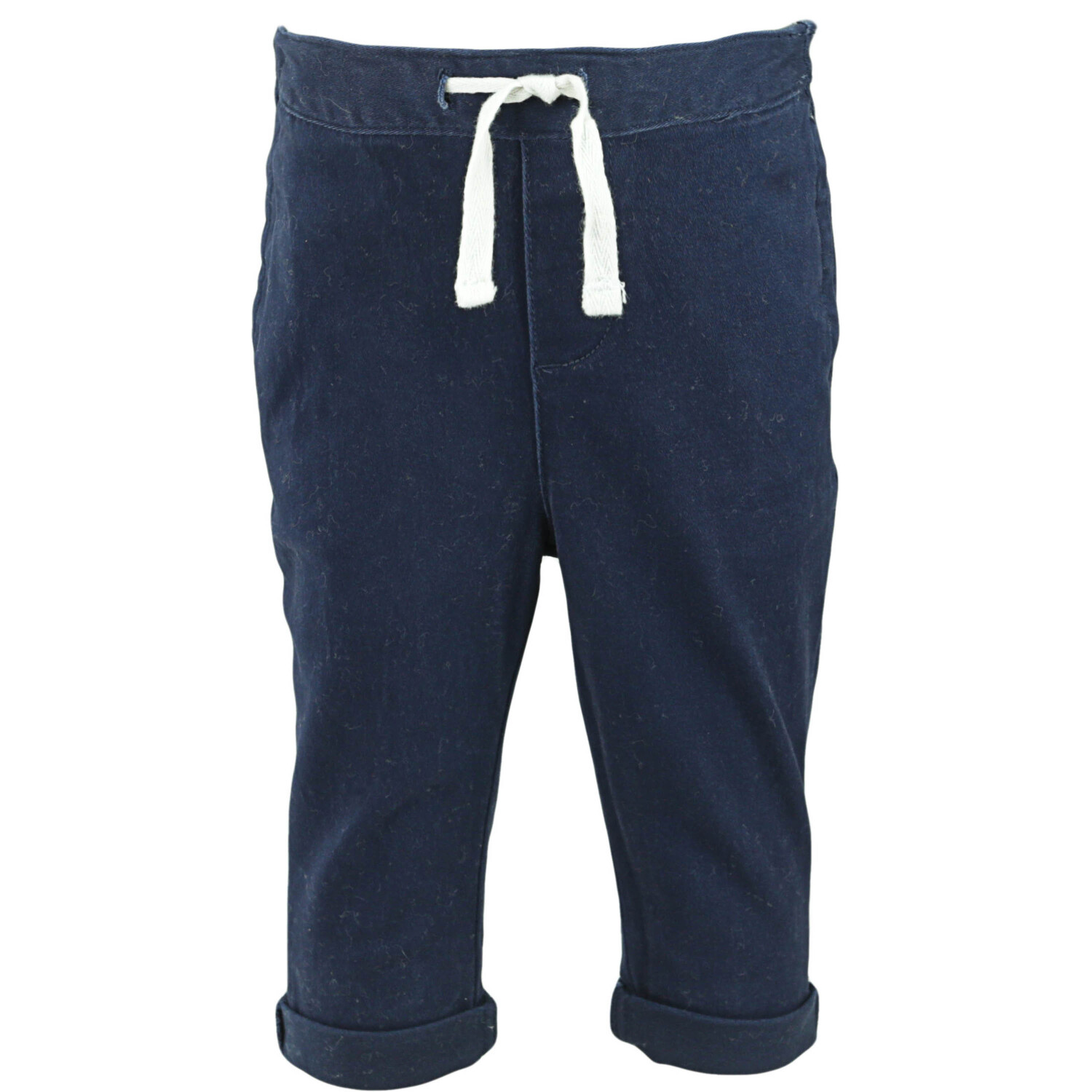 Janie And Jack Boy's Navy Pull On Stretch Twill Pant Pants - 12-18 Months