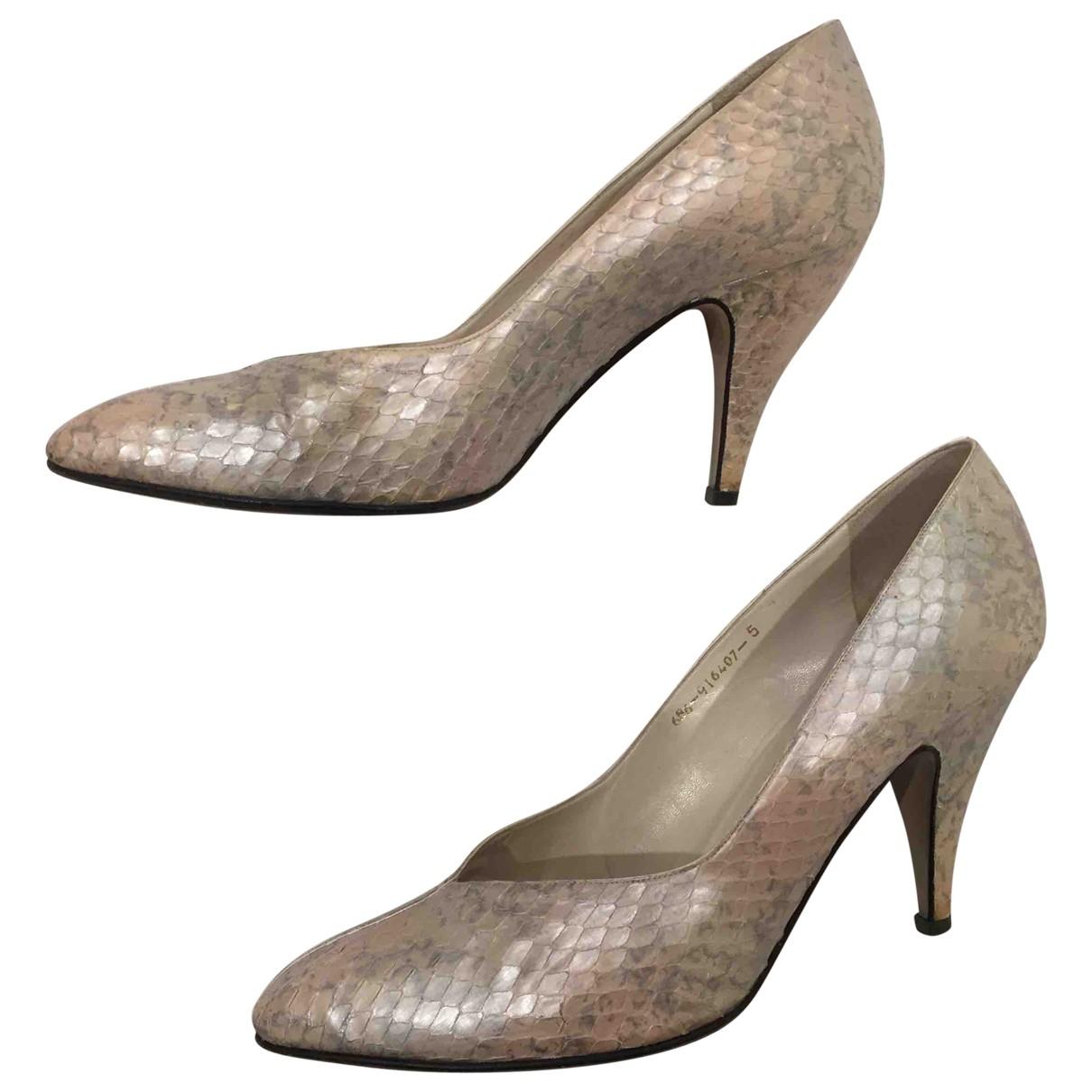 Gina \N Metallic Leather Heels for Women 38 EU