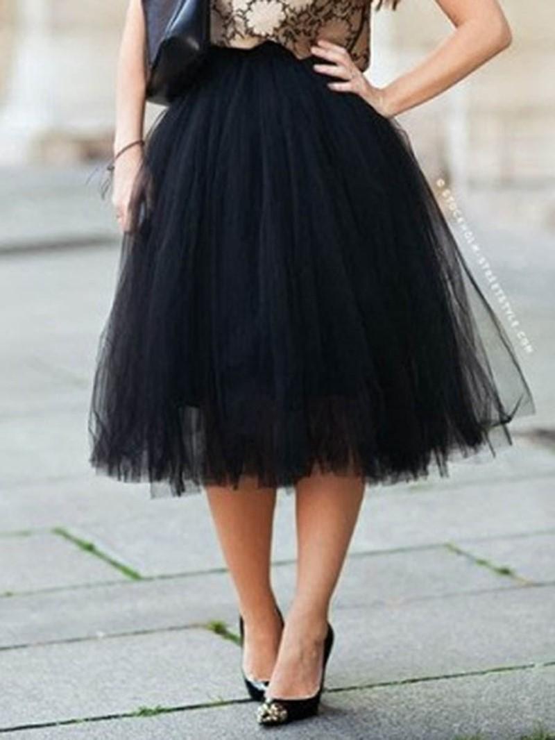 Ericdress Tulle High-Waist Women's Wedding Skirt