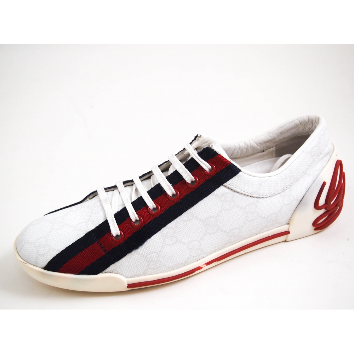 Gucci \N White Cloth Trainers for Women 38.5 EU