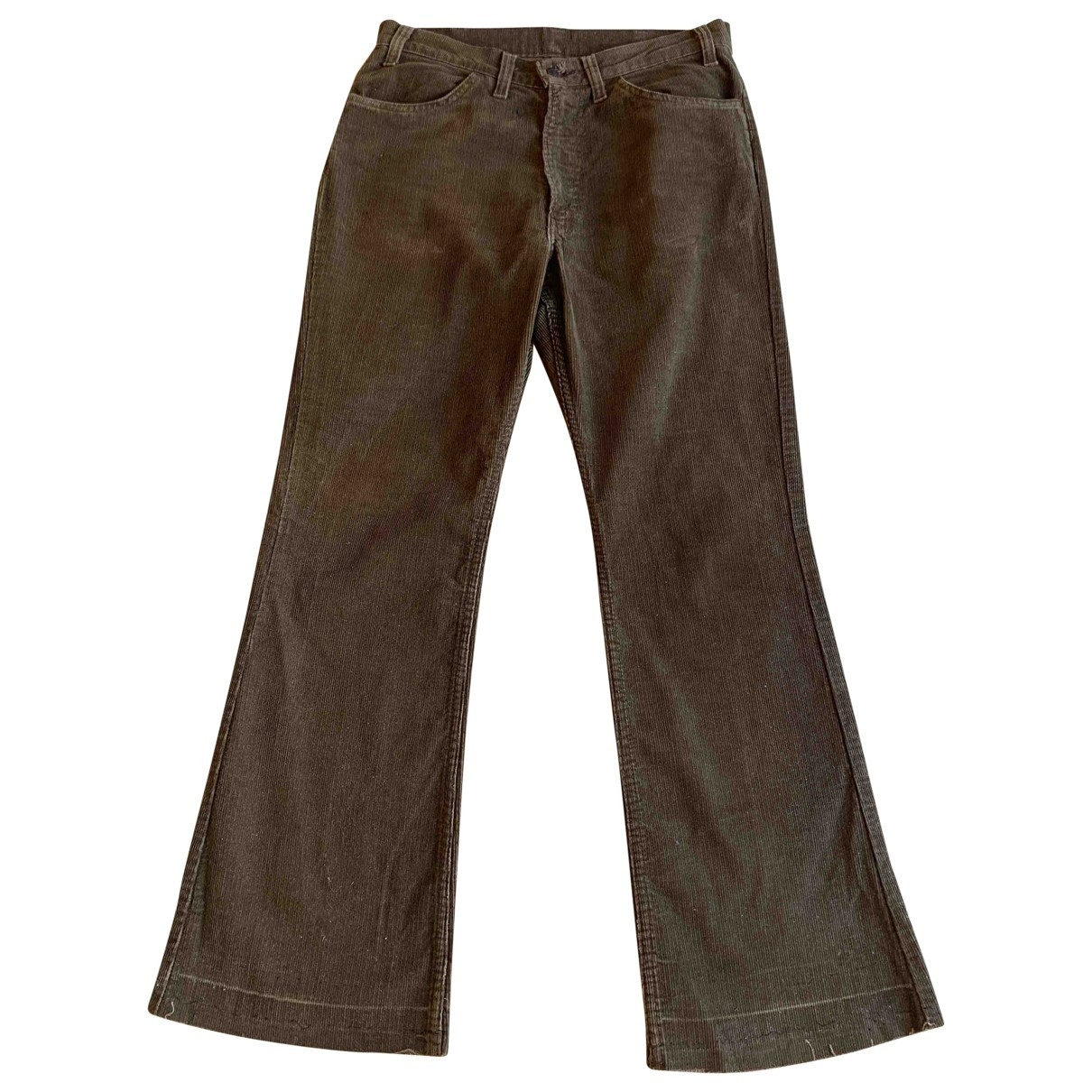 Levi's Vintage Clothing \N Brown Cotton Trousers for Women 38 FR