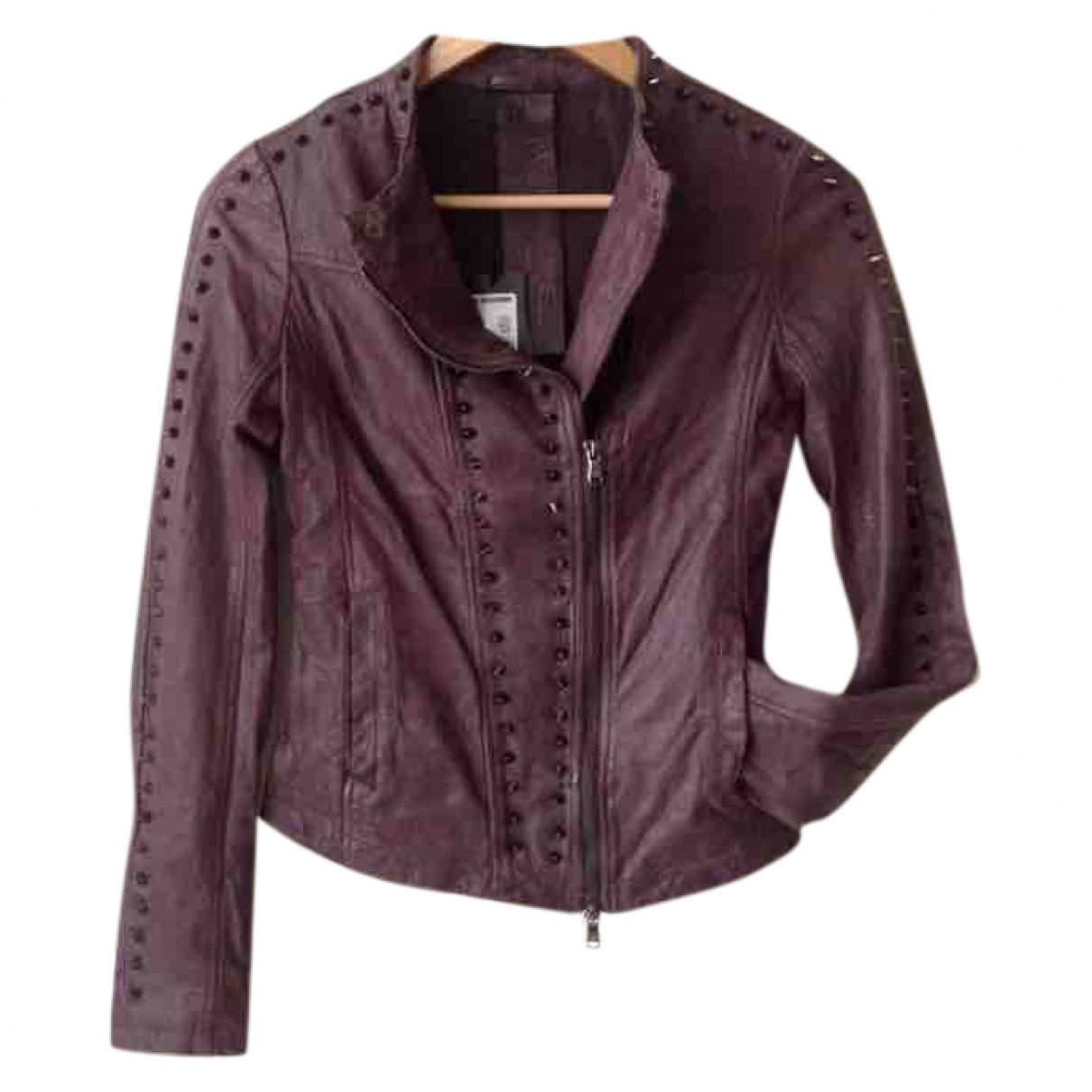 Patrizia Pepe \N Leather Leather jacket for Women 40 IT