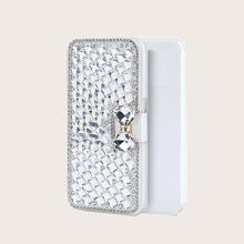 1pc Rhinestone Cover iPhone Wallet Case