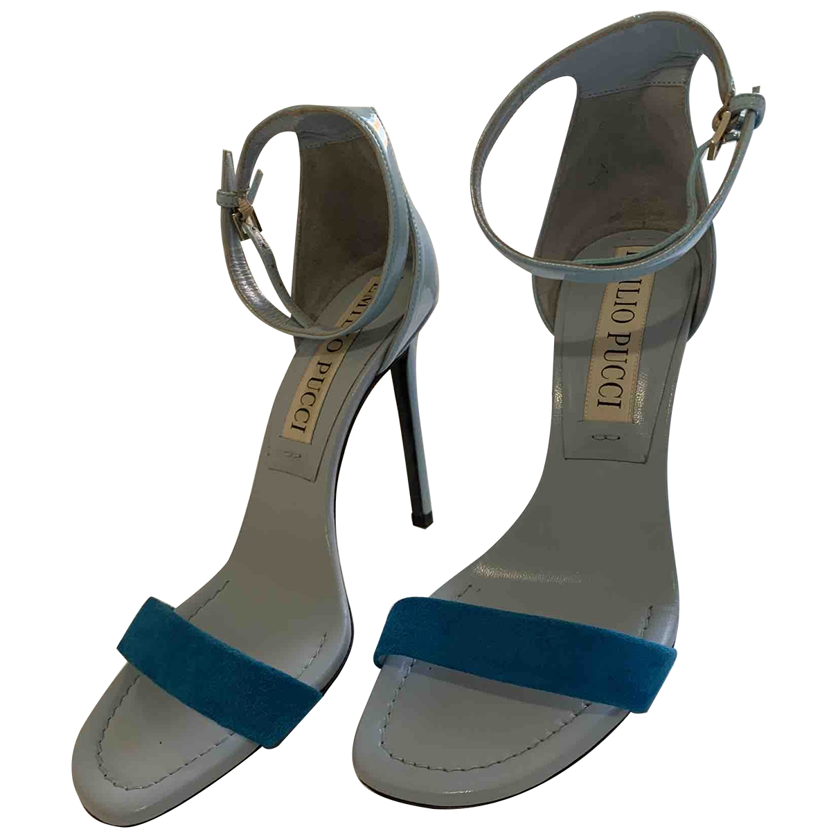 Emilio Pucci \N Turquoise Patent leather Sandals for Women 37 EU