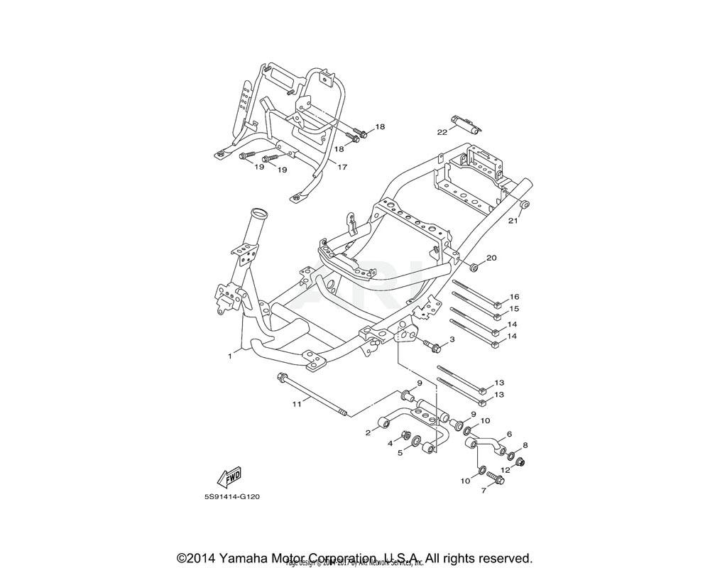 Yamaha OEM 5S9-F1420-00-00 ENGINE BRACKET COMP. 2