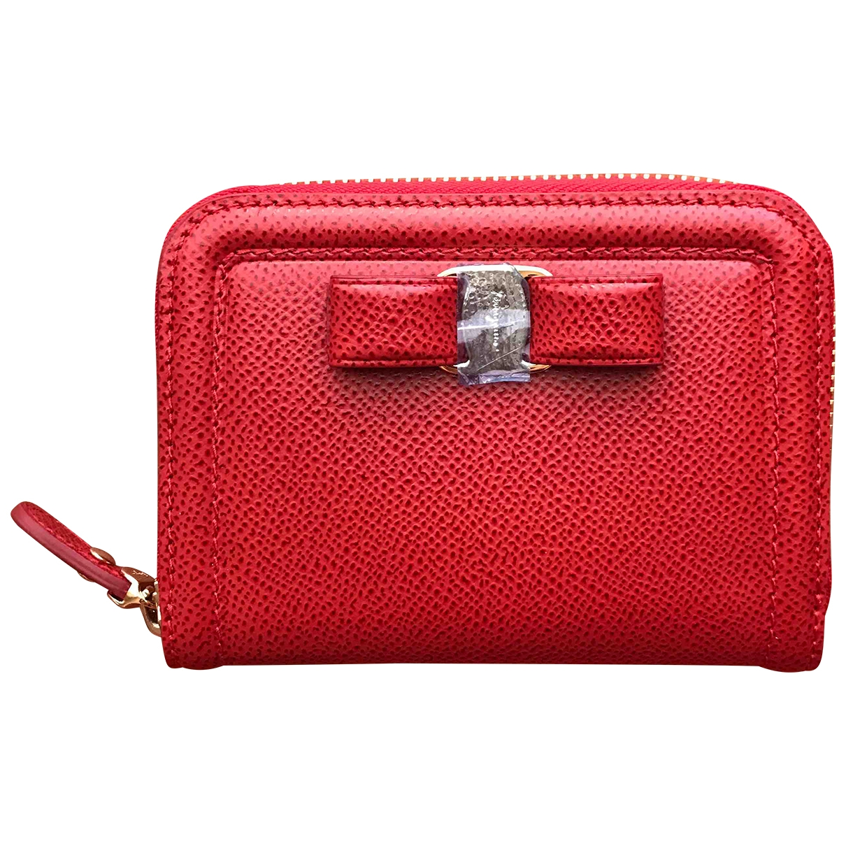 Salvatore Ferragamo \N Red Leather wallet for Women \N