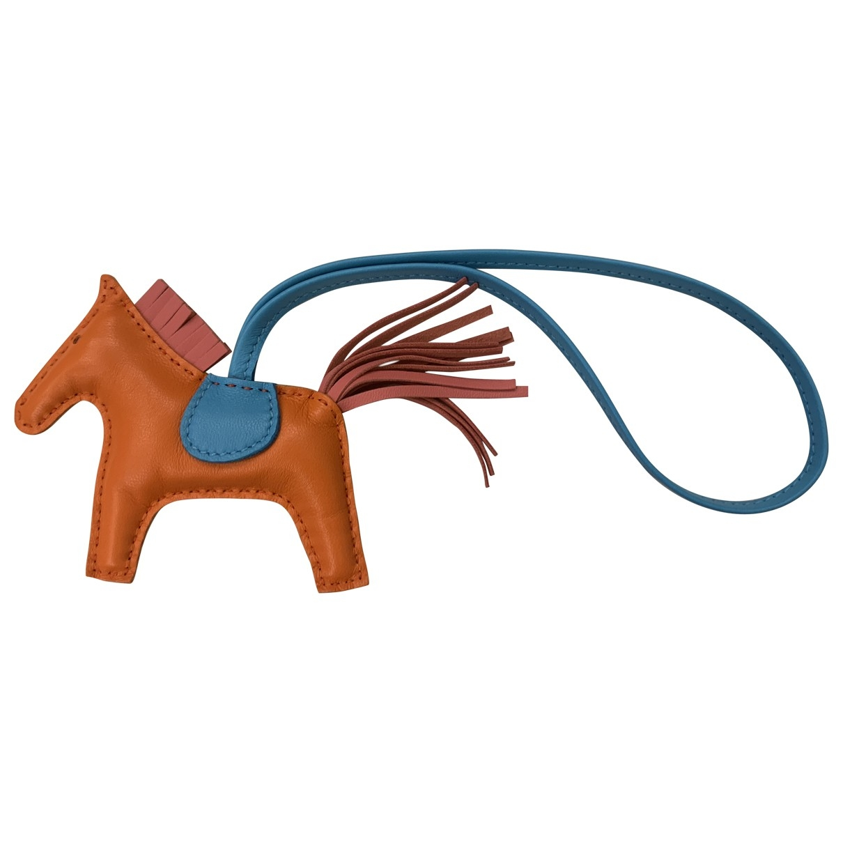 Hermès Rodeo Orange Leather Bag charms for Women \N