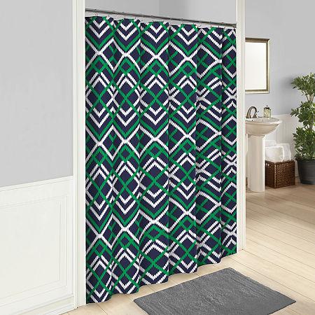 Homewear Shower Curtain, One Size , Black