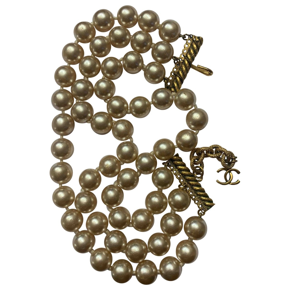 Chanel \N Beige Pearls necklace for Women \N