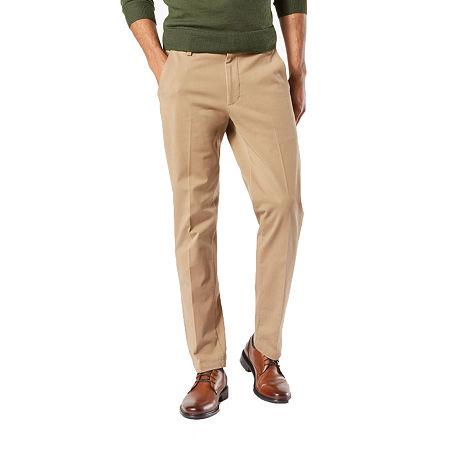 Dockers Men's Slim Fit Workday Khaki Smart 360 Flex Pants D1, 33 32, Beige