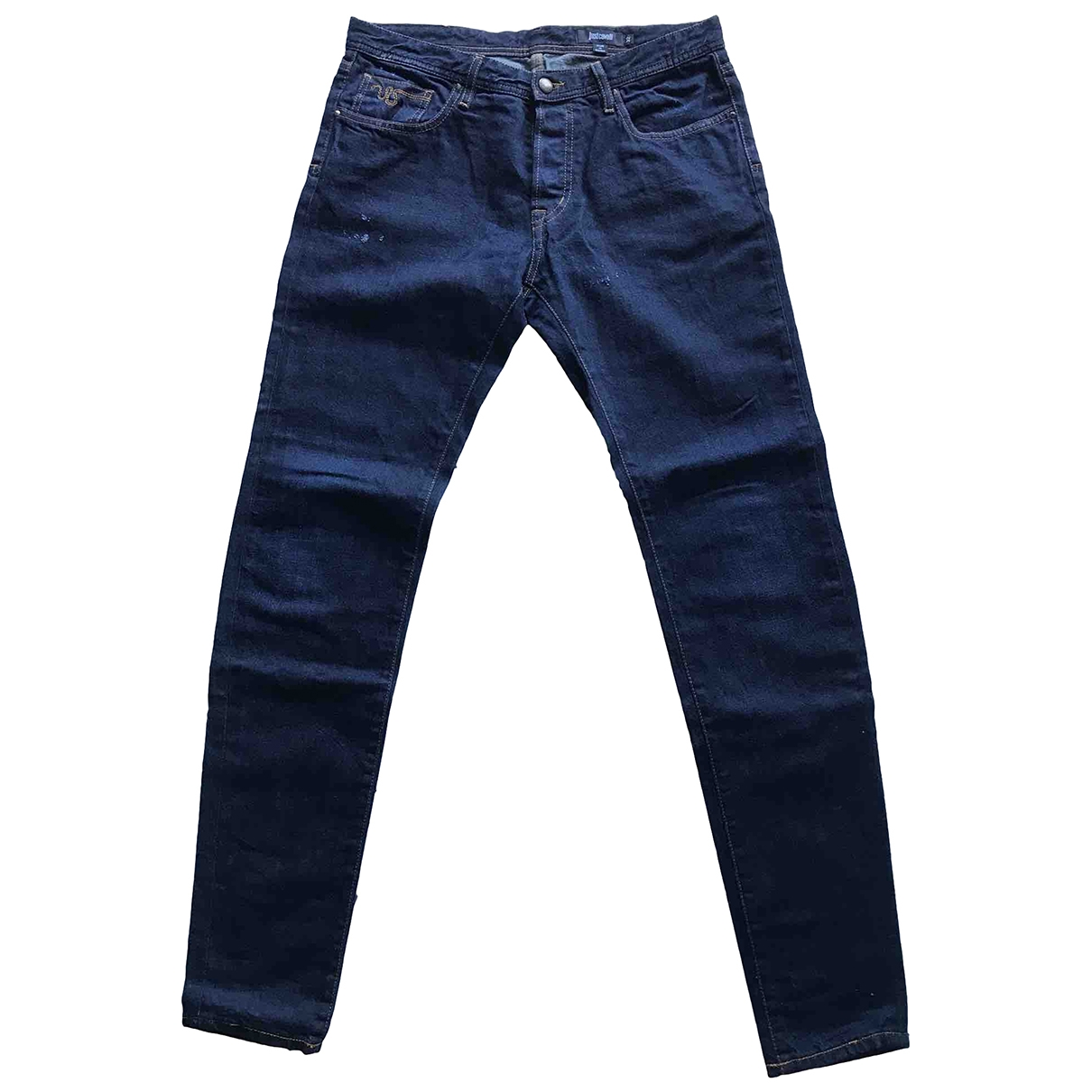 Just Cavalli \N Blue Cotton Jeans for Men 32 US