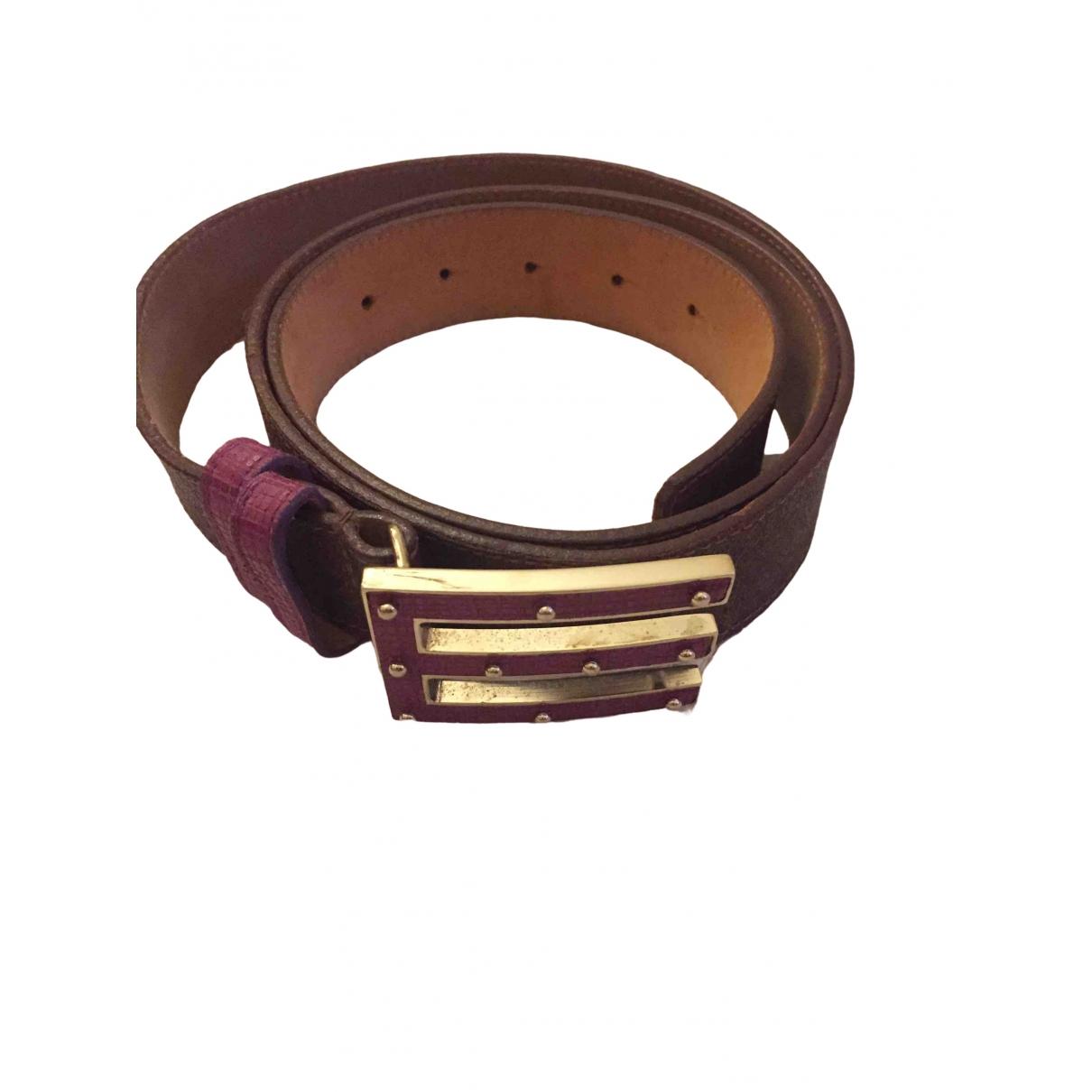 Etro \N Purple Leather belt for Women L International