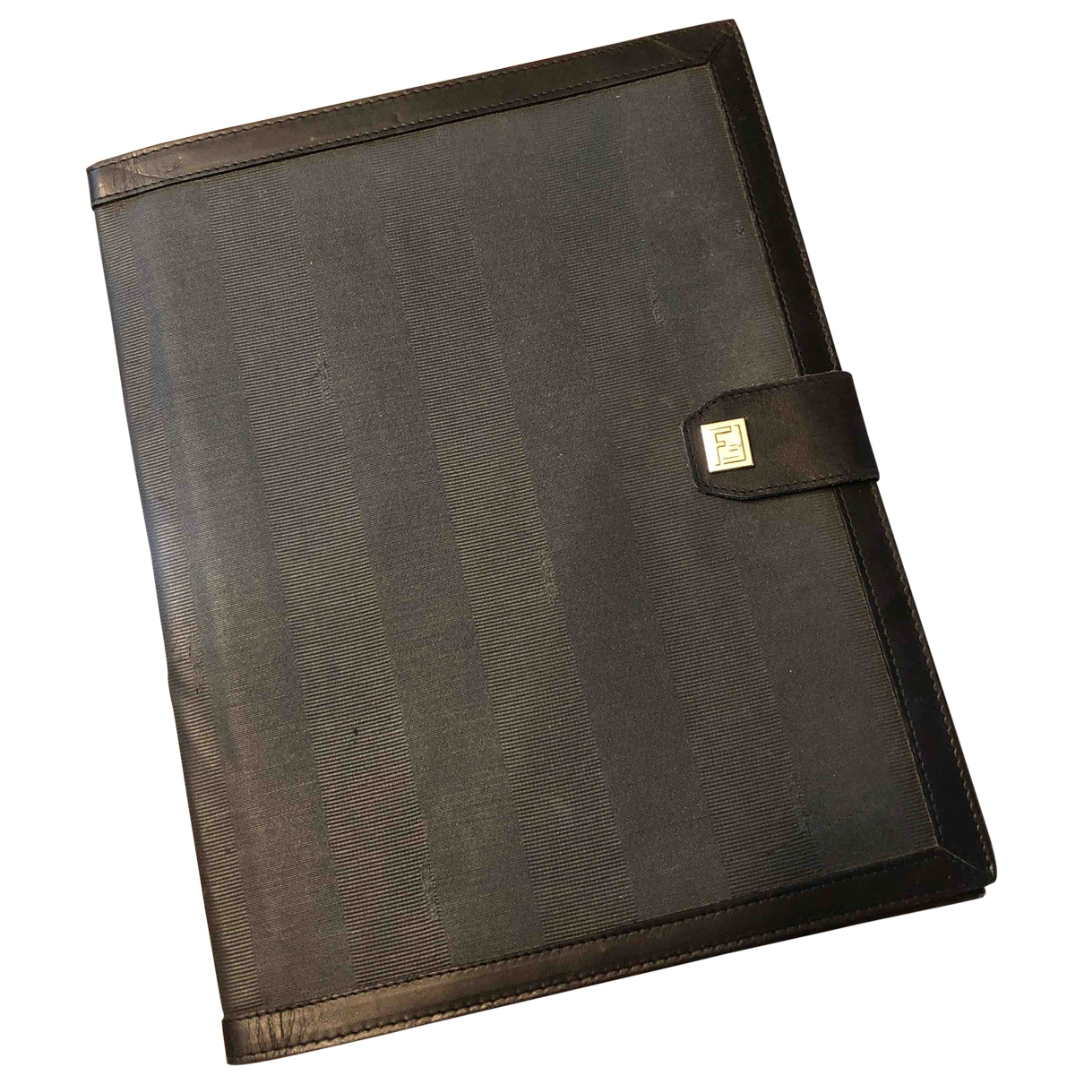 Fendi \N Black Cloth Small bag, wallet & cases for Men \N