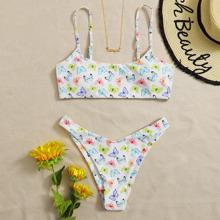 Butterfly Print Bikini Swimsuit