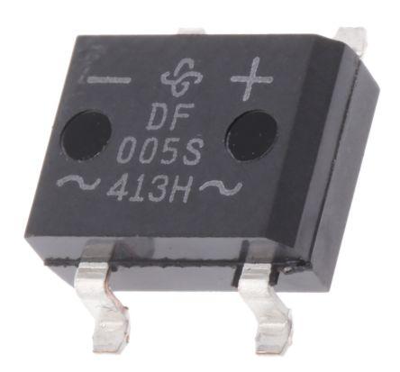 Vishay DF005S-E3/77, Bridge Rectifier, 1A 50V, 4-Pin DF-S (20)