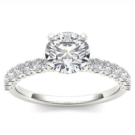 1 CT. T.W. Round White Diamond 14K Gold, 7 1/2 , No Color Family