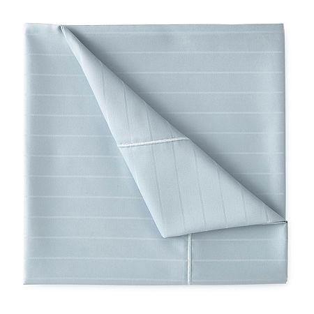 Liz Claiborne Luxury 600tc Sateen Wrinkle Free Sheet Set, One Size , Blue