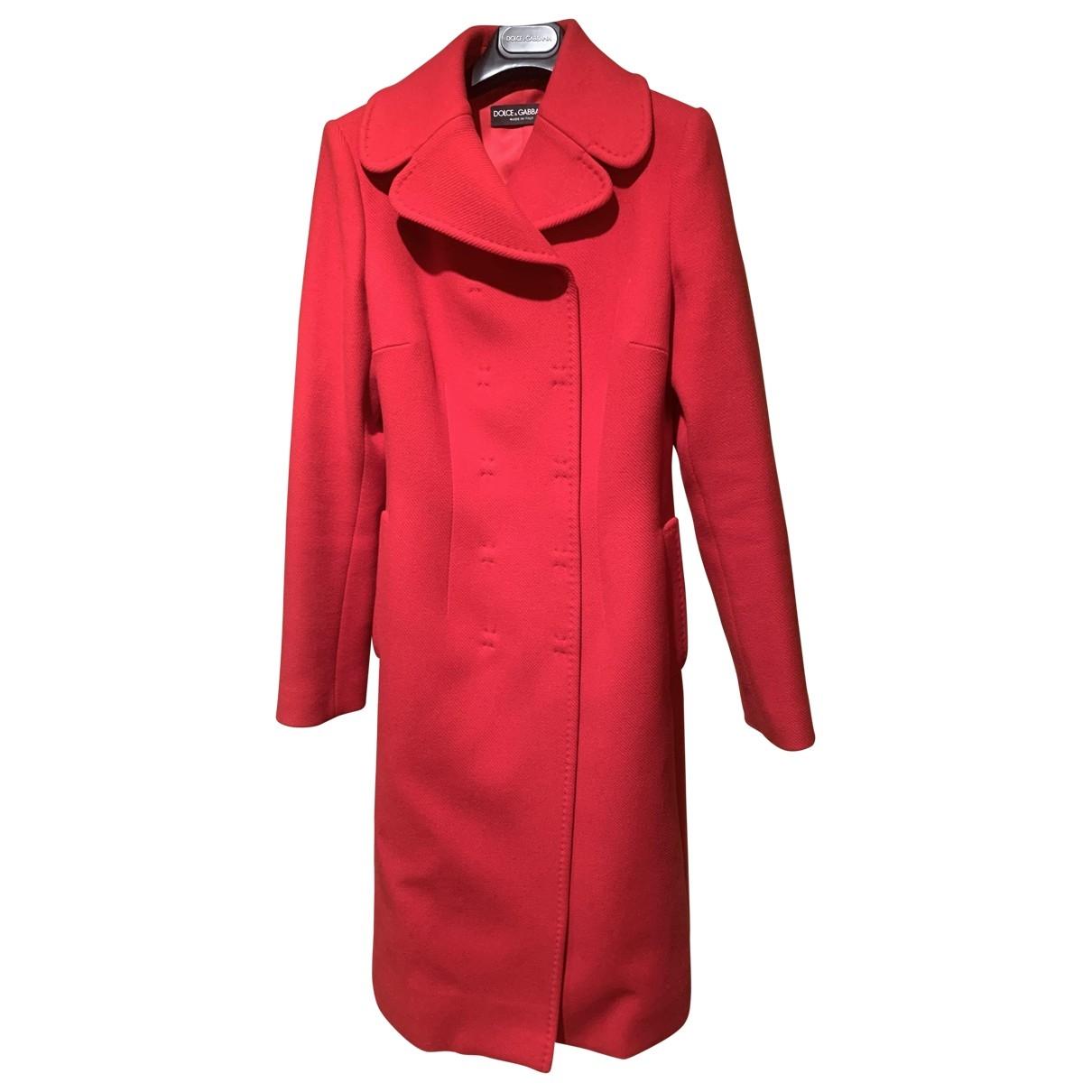 Dolce & Gabbana \N Red Wool coat for Women 42 IT