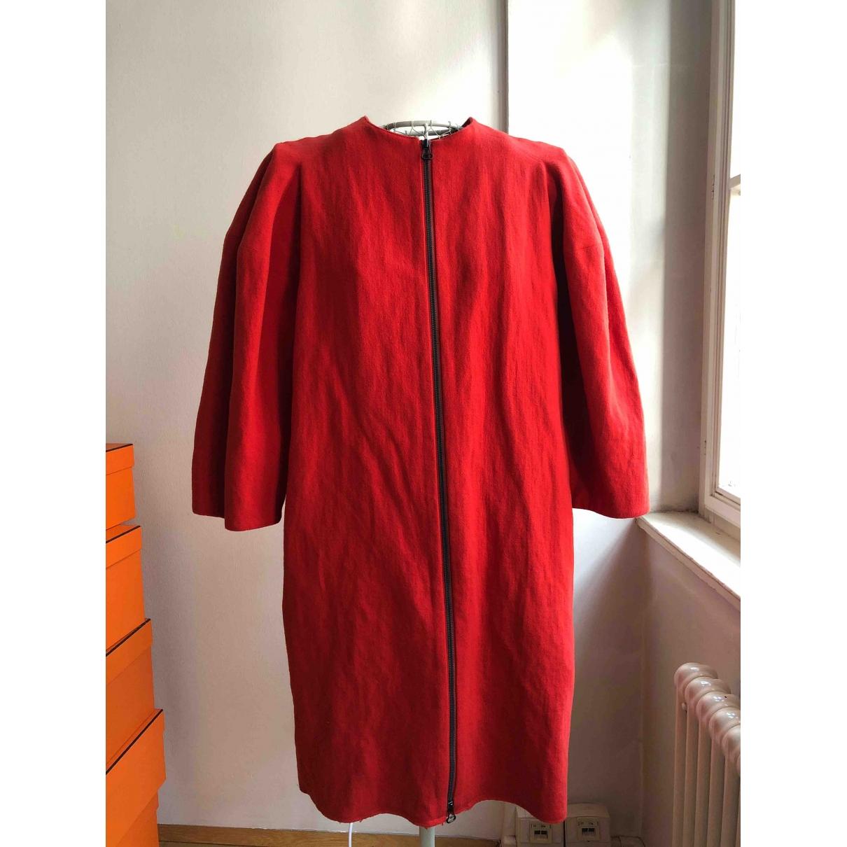 Lanvin \N Red Wool coat for Women 40 FR