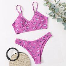 Ditsy Floral Bikini Swimsuit