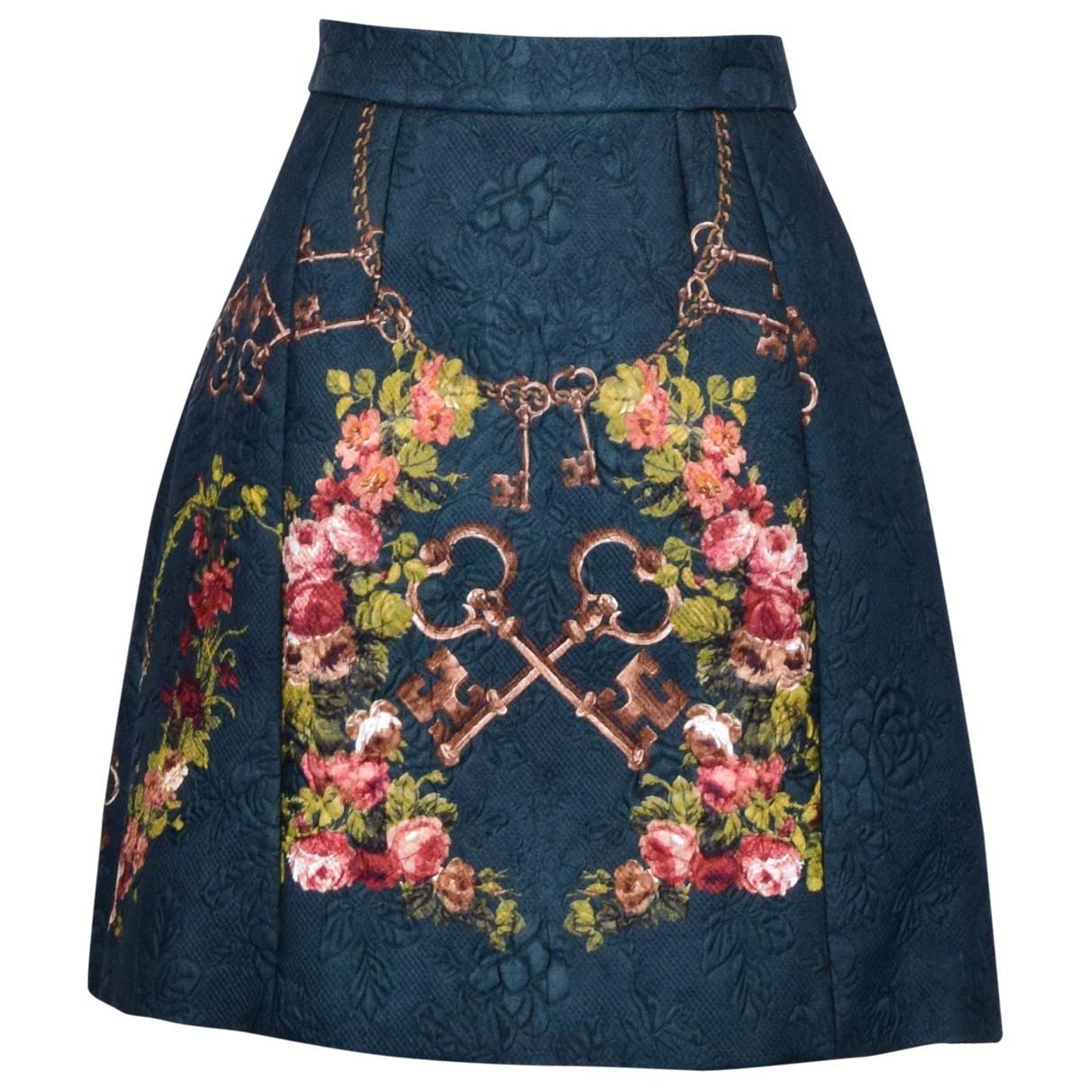 Dolce & Gabbana \N Green Silk skirt for Women 40 IT