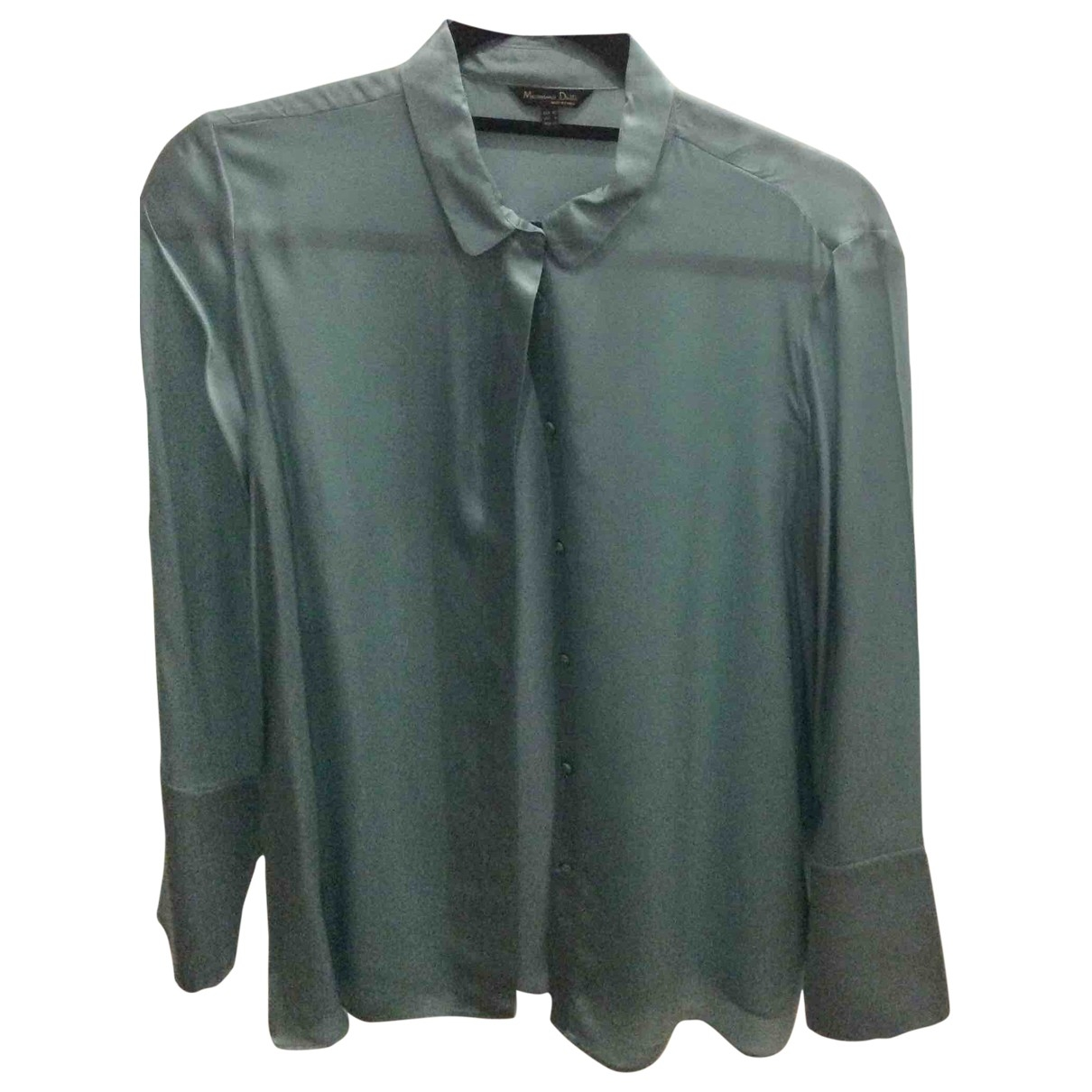 Massimo Dutti \N Turquoise Silk  top for Women 8 US