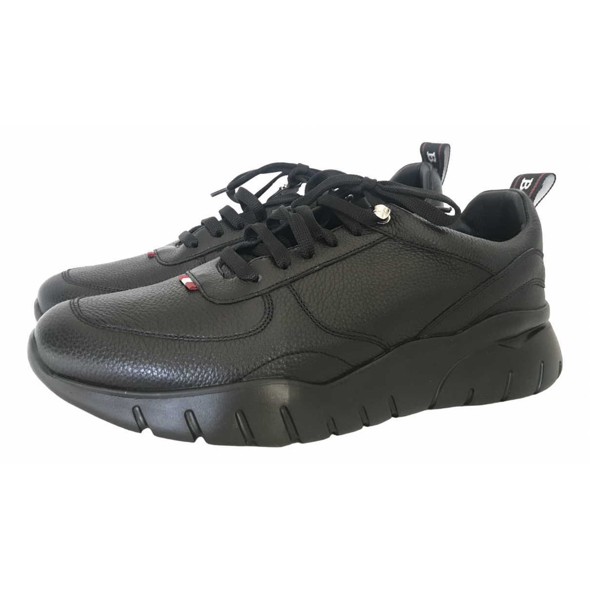 Bally \N Black Leather Trainers for Men 44 EU