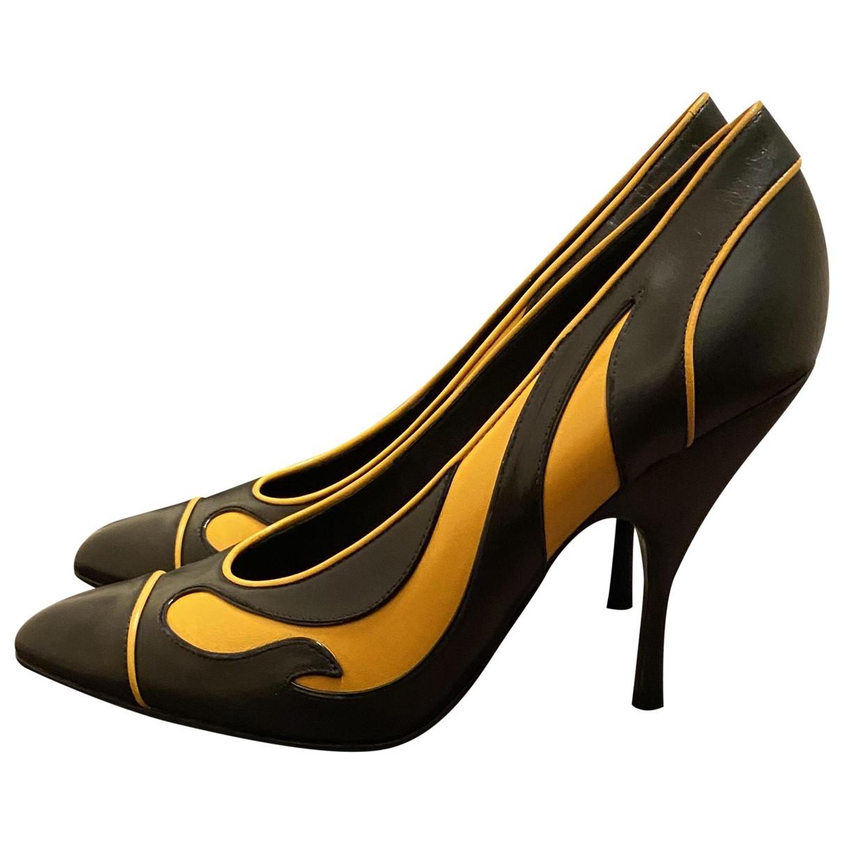Bottega Veneta \N Black Leather Heels for Women 40 EU