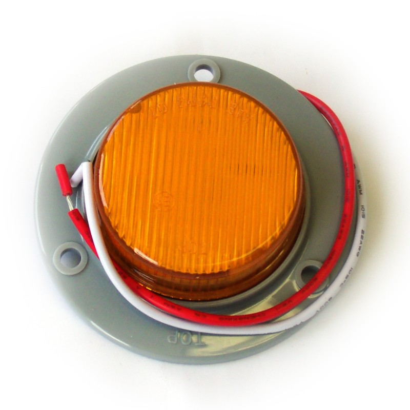 Race Sport Lighting RS-2-3HA Amber Truck and Trailer LED Round 2.0 Inch