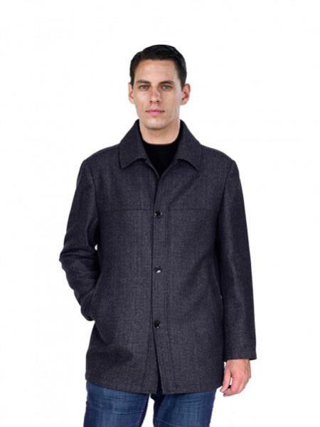 Mens Pea Coat Outerwear Black